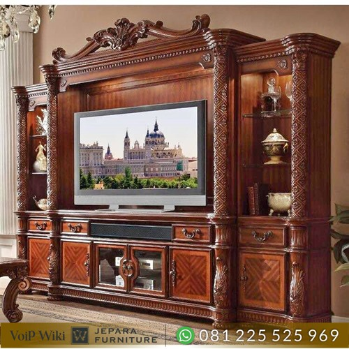 Bufet TV MinimalisModernKayu Jati Mewah
