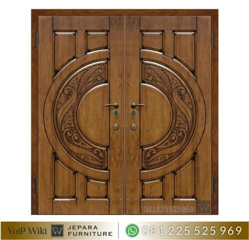 Model Pintu Rumah Ukir Minimalis Klasik