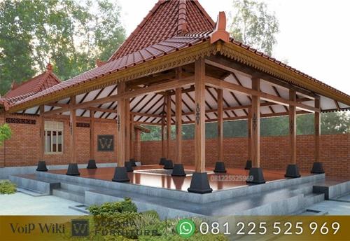 Pendopo Rumah Kayu Jati Adat Jawa