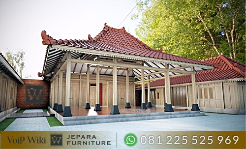 Rumah Kayu Joglo Minimalis Modern Terbaru