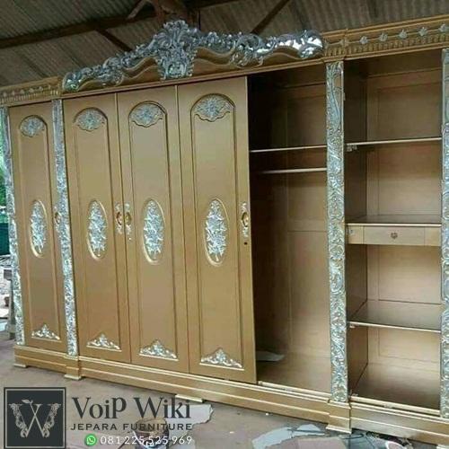 lemari pakaian kayu ukir 6 pintu