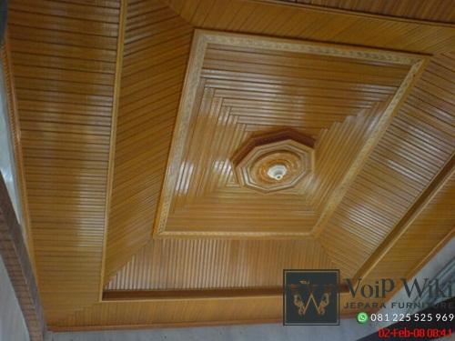 plafon kayu jati mewah