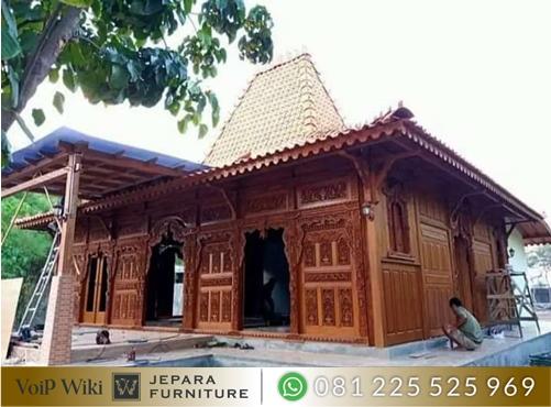 Rumah Joglo Limasan Jawa Bahan kayu Jati Ful