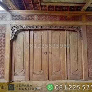 Jual Pintu Utama Ukir Minimalis kayu Jati Orginal