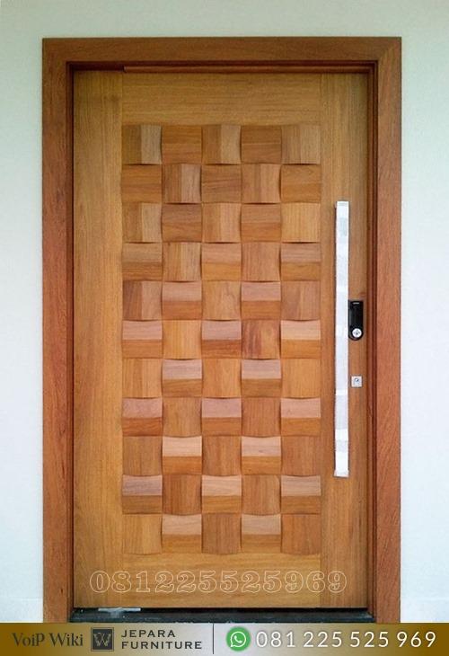 Pintu Anyaman Bambu Minimalis