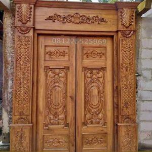 Pintu Rumah Mewah Jati ukir klasik Jepara Terbaik dan Terpercaya di Indonesia