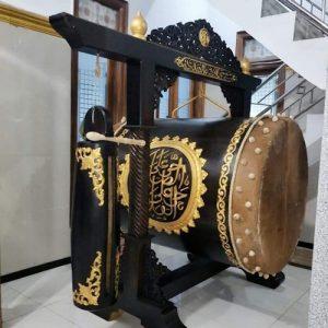 bedug masjid kayu jati ukir furniture jepara