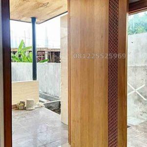 pintu jati rumah minimalis jepara model terbaru