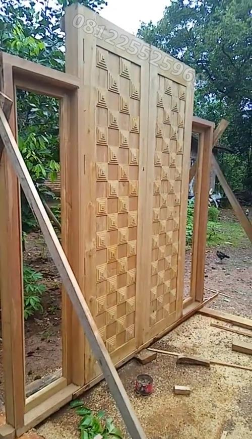 pintu minimalis mewah piramid jepara