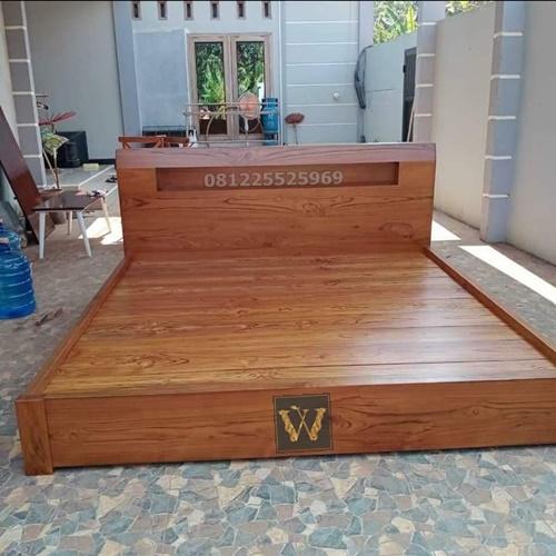 tempat tidur kos kayu jati terlaris