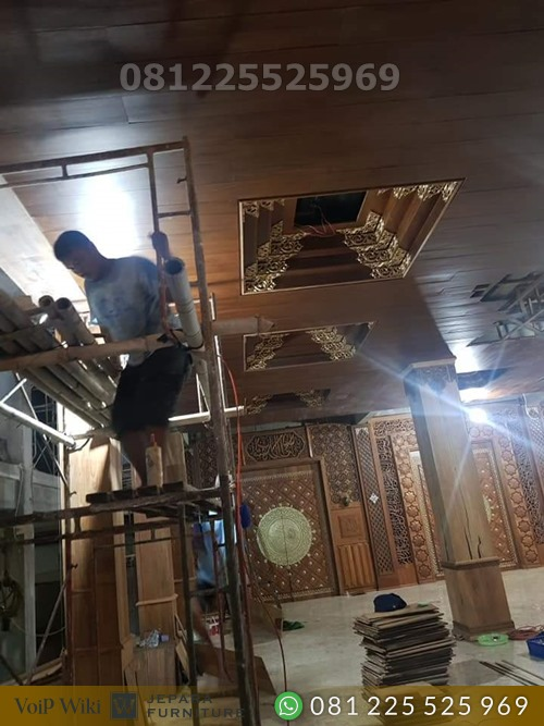 Jual Atap Plafon Masjid Kayu Jati Terbaik Jepara