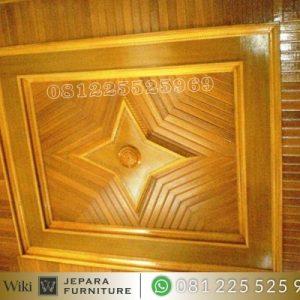 Plafon Minimalis Kayu Jati
