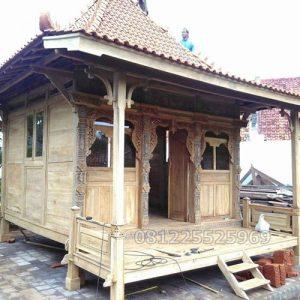Rumah Kayu Jati Gladak Minimalis Ukir Jepara