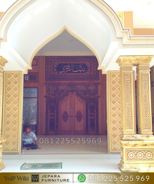 Pintu Masjid Ukir Jati Gebyok Mewah Jepara
