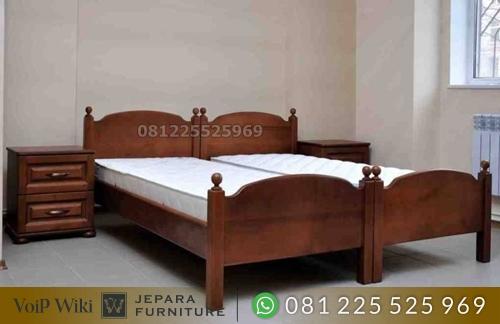 Tempat Tidur Kos Minimalis Klasik Jati Jepara
