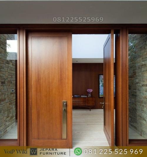 Pintu Minimalis Jati Terbaik Model Kupu Tarung