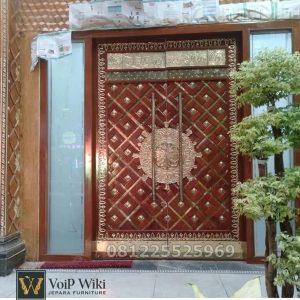 Jual Pintu Nabawi Kuningan Kayu Jati Jepara Terlaris Untuk Masjid