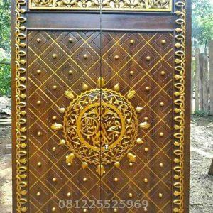 Pintu Masjid Nabawi Ukiran Asli Jepara