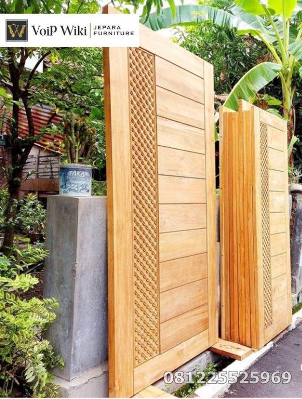 Pintu Minimalis Asimatris Simple Mewah Jati Jepara