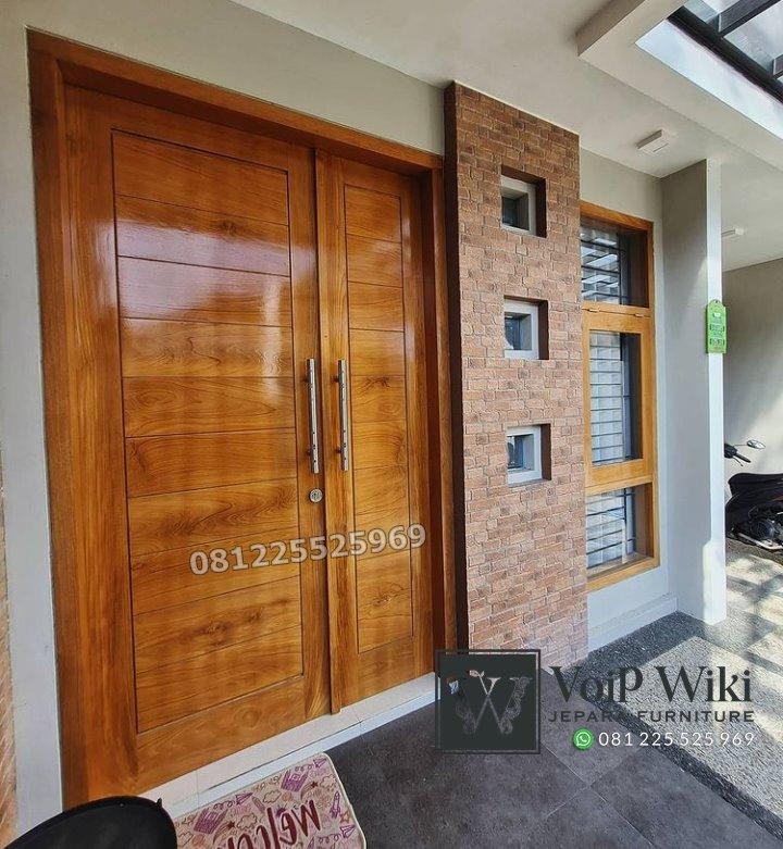 Pintu Minimalis Asimetris Mewah Jati Jepara