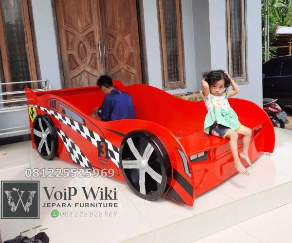 ranjang anak karakter mobil