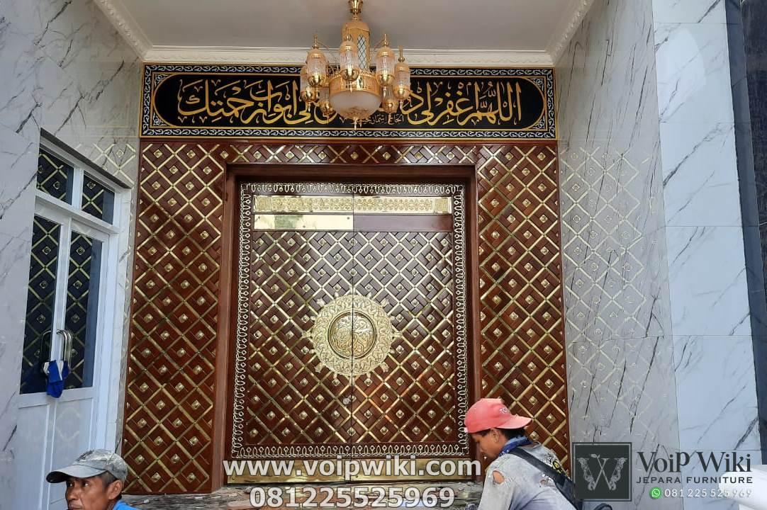 kusen pintu masjid nabawi arcitraf ukir jepara