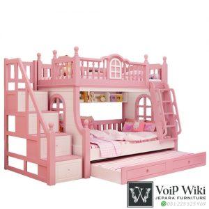 Tempat Tidur Tingkat Anak Terbuat Dari Kayu