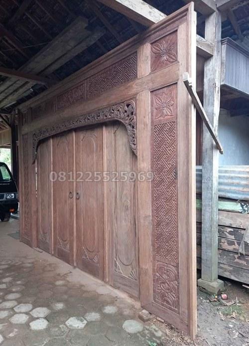 Pintu Utama Ukir Minimalis Jepara