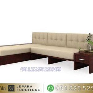 Kursi Sudut Minimalis Moderen Jati Furniture Jepara