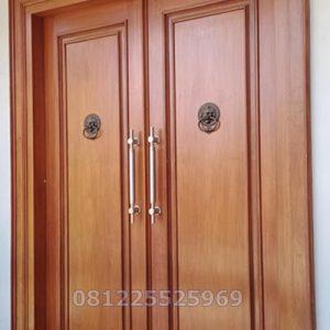 Kusen Pintu Utama Kupu Tarung Jati Elegan Untuk Rumah Minimalis