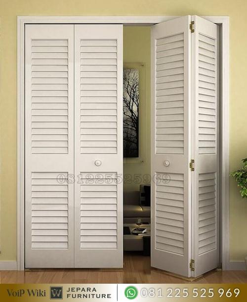 Pintu Lipat Kayu Minimalis