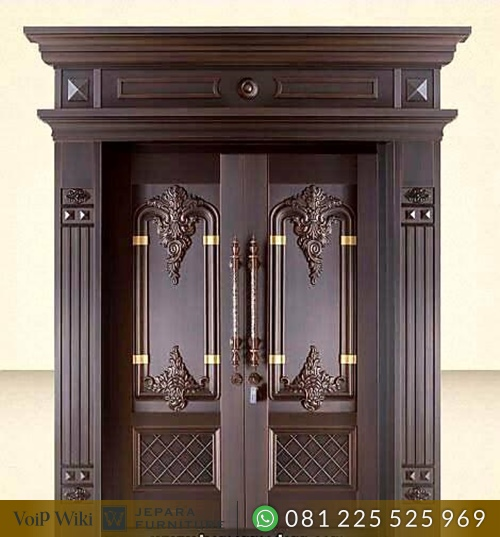 Pintu Rumah kayu Jati Ukir Klasik Mewah Asli Jepar