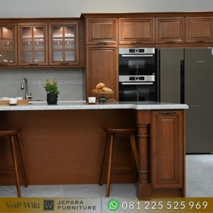 Spesialis Kitchen Set Kayu Jati Minimalis mewah Terbaru