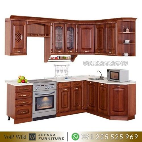 Kitchen Set Mewah Jati Pilihan Terbaik Untuk Dapur