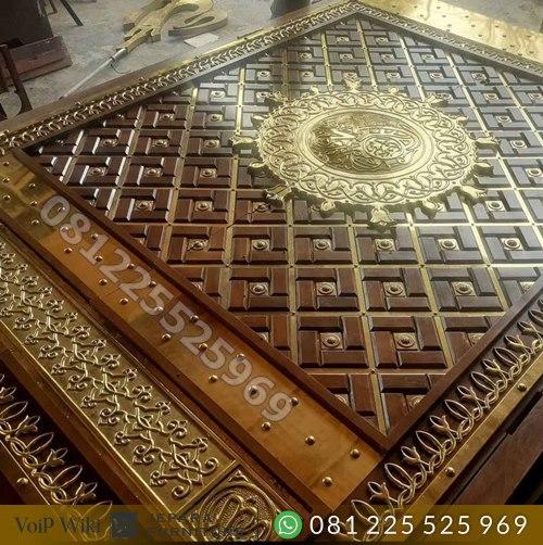 Gambar Pintu Nabawi Ukiran Tempel kuningan