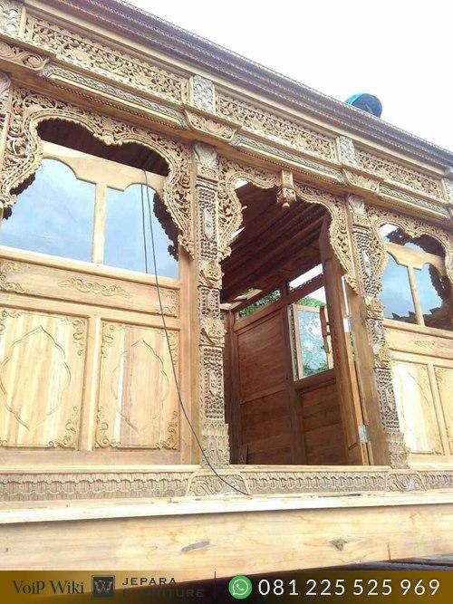 Rumah Kayu Jati Minimalis Gladak ukir Jepara