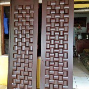 Spesialis Pintu Rumah minimalis Anyaman Desain Ukir 3D Jepara