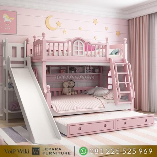 tempat tidur tingkat minimalis susunan rapi