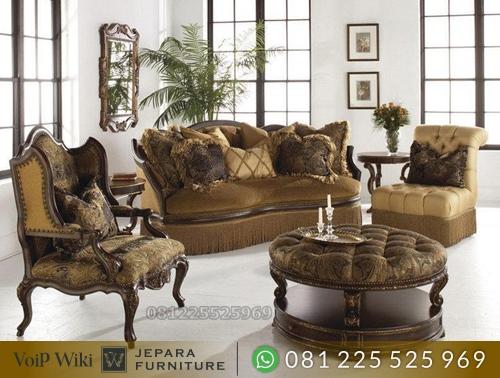 Sofa Kursi Tamu Mewah Klasik Eropa Produk Furniture Jepara