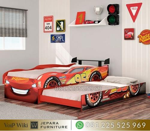 Tempat Tidur Anak Karakter Mobil Balap Sport