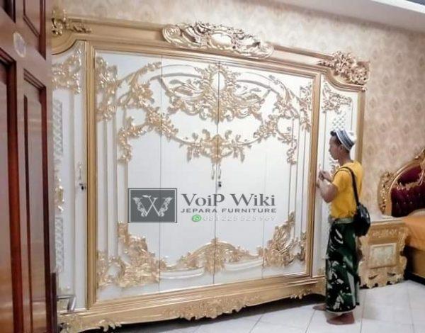 Lemari Pakaian 6 Pintu Mewah Ukir Cantik Jati Jepara