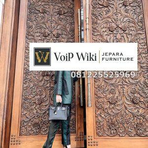 Pintu Ukir Rumah Mewah Kayu Jati Jepara
